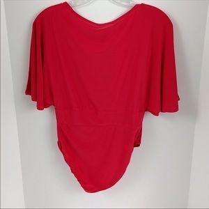 Nasty Gal Tops - NASTYGAL Batwing Red Bodysuit